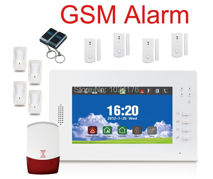 2014 New Arrival!!! Best Wireless GSM Alarm System for Home/Garage/Yard Security <br><br>Aliexpress