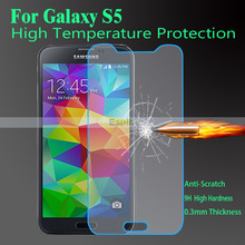 0.3mm Ultra Thin Premium Tempered Glass Screen Protector for Samsung Galaxy S5 i9600 Film with Strong Box + Clean Tool(China (Mainland))