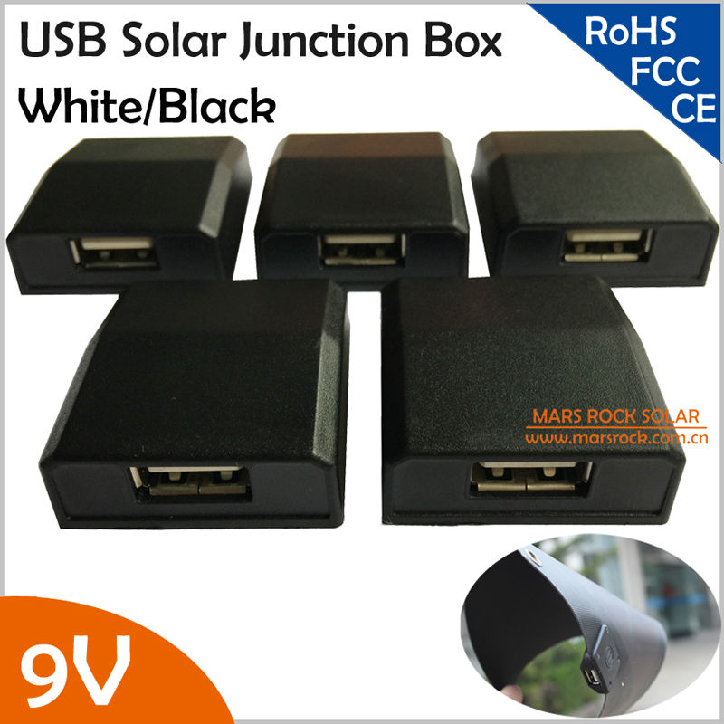 9V Mini Solar Junction Box with USB, Below 15W Flexible Solar Panel Electrical Connector, Solar Panel Fold Bag PV Connecting Box(China (Mainland))