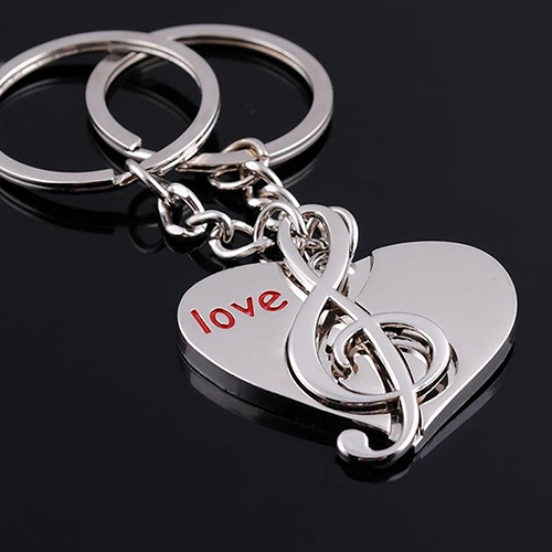 Гаджет  Cute Heart Notes Couples keychain Alloy Key Chain Keyring Keychain Lover Gifthot None Ювелирные изделия и часы