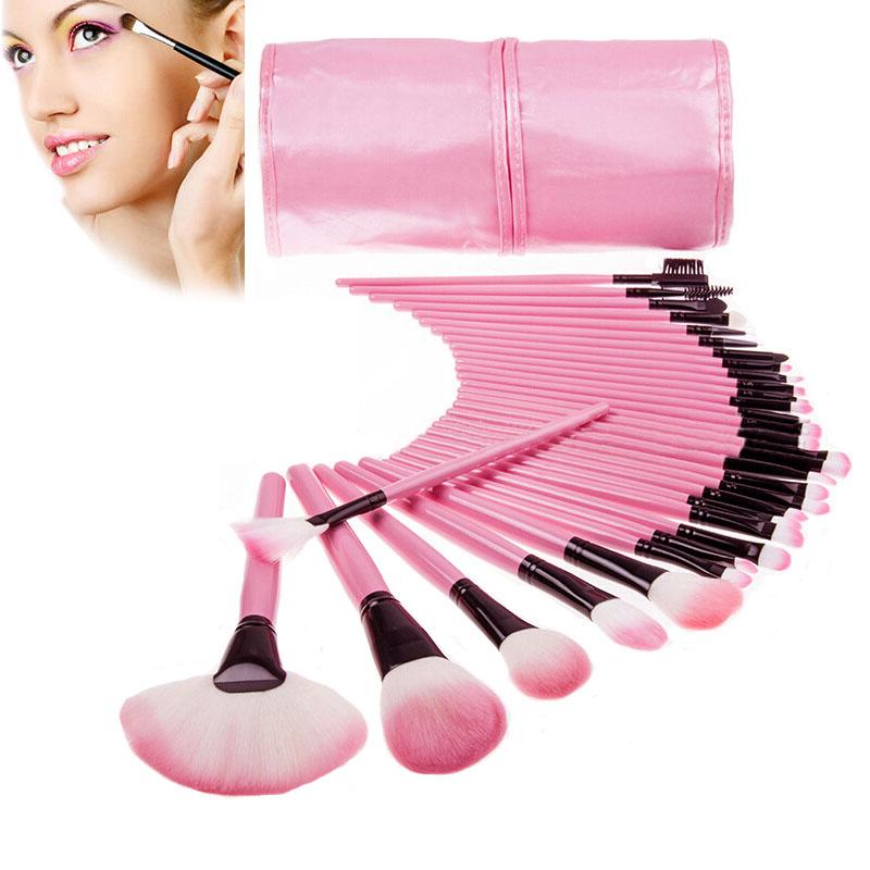 32Pcs / 1Set Makeup Brush Set Synthetic Kabuki Blending Foundation Eyeshadow Make up Brushes Kit Beauty Cosmetics Eyebrow Tools(China (Mainland))