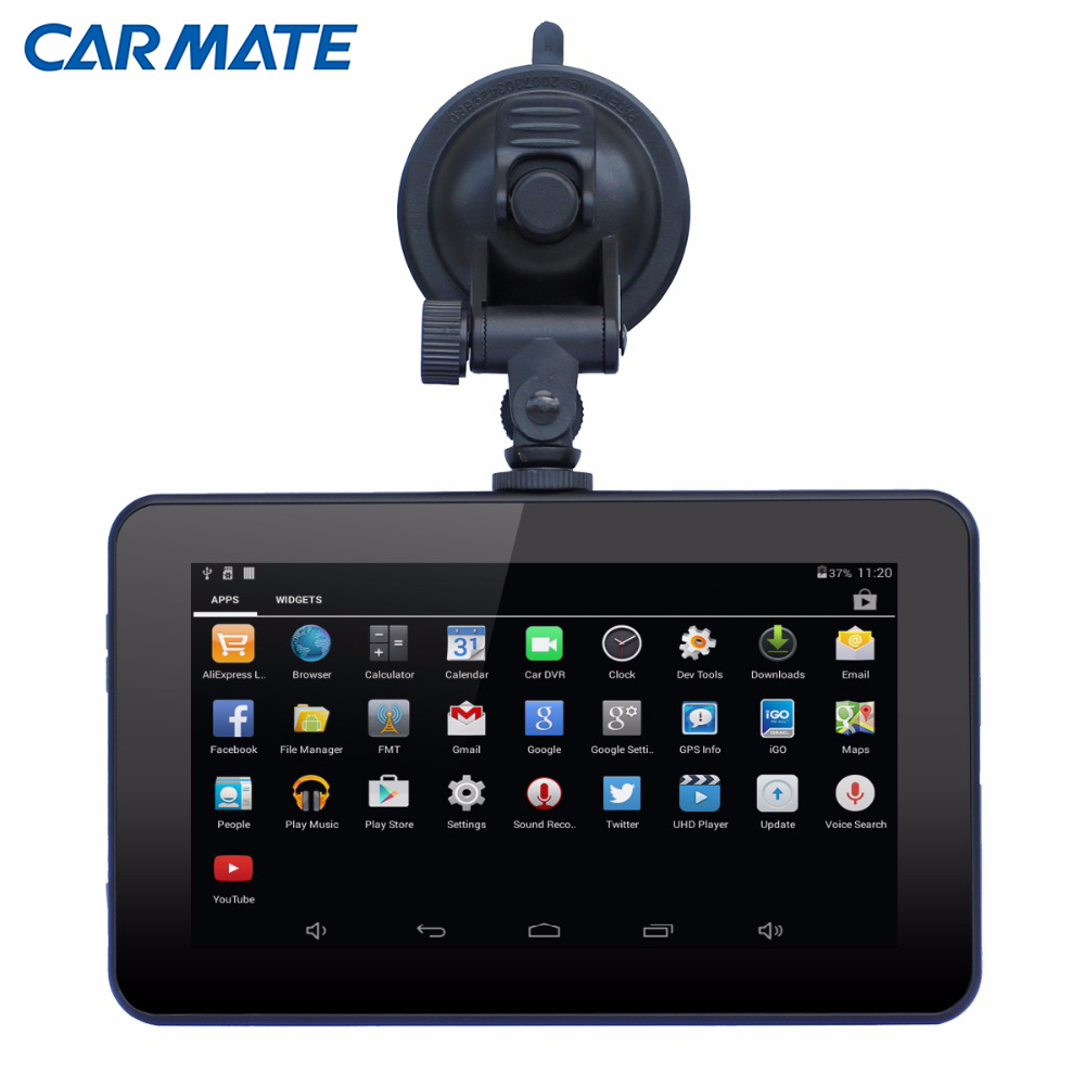 "New 7"" Capacitive screen Android 4.4 Car DVR Vedio Recorder Camera Tablet PC WIFI Truck vehicle gps navigation map Car dvrs(China (Mainland))"