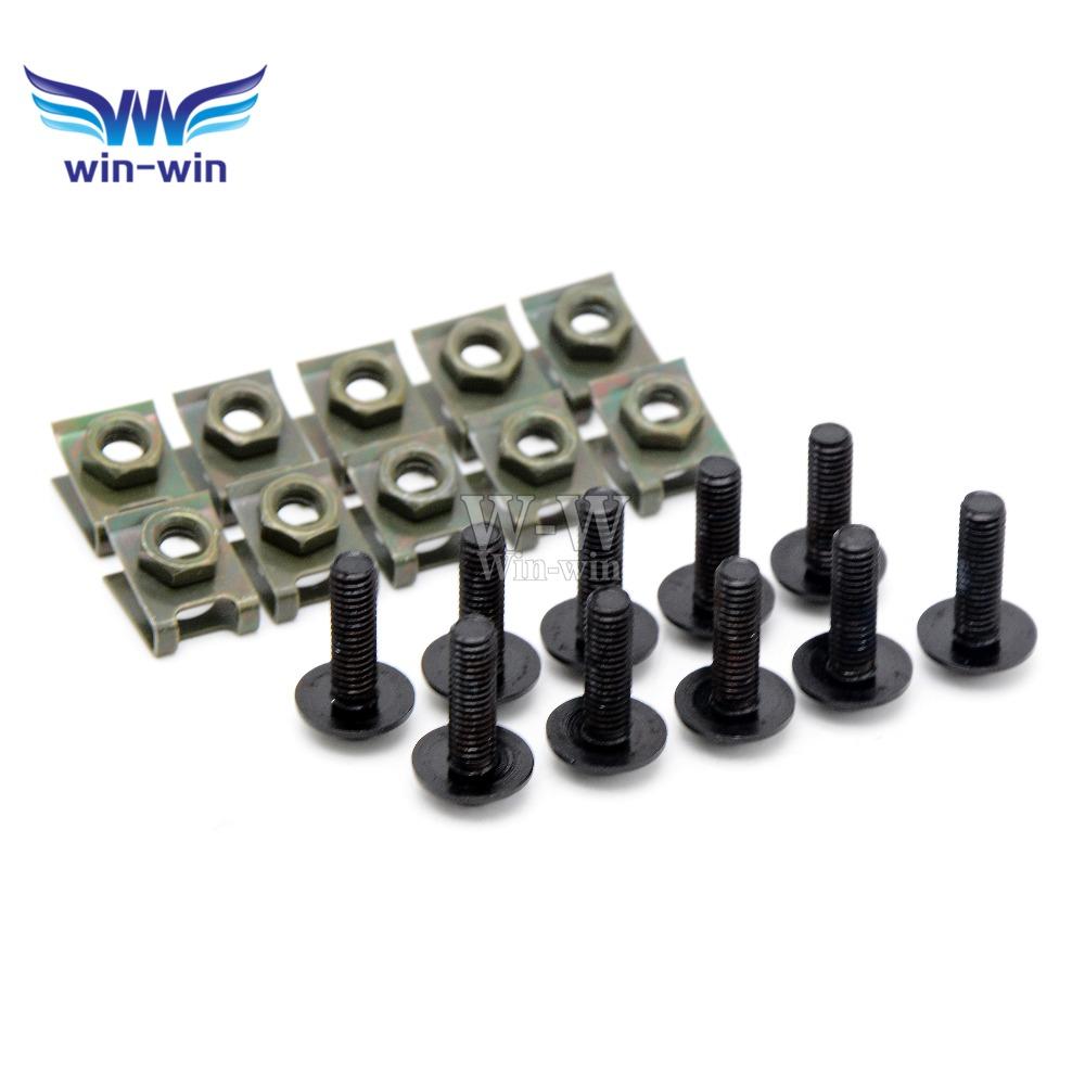 10 pcs CNC motorcycle parts fairing bolts screws for Yamaha YZF R1 2009 - 2014 2010 2011 2012 2013 YZF R6 1999 - 2004 2000 2001(China (Mainland))
