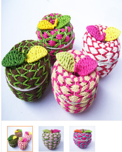 50pcs/lot fedex fast free shipping durable hand crafted apple shape baskets storage baskets 11.5*10cm small things baskets(China (Mainland))