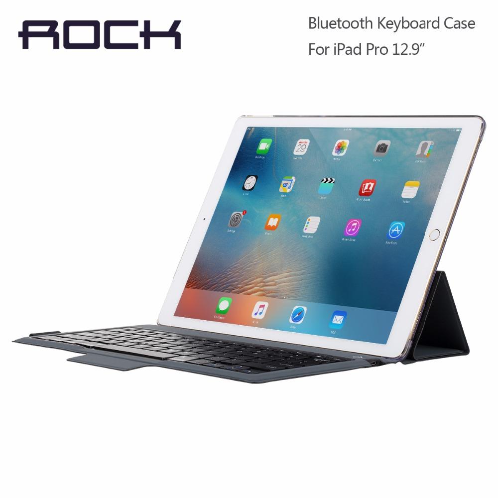 ROCK Bluetooth Keyboard Case for iPad pro 12.9'' Bluetooth Keyboard Case Flip case for iPad pro 12.9 inch with kickstand(China (Mainland))