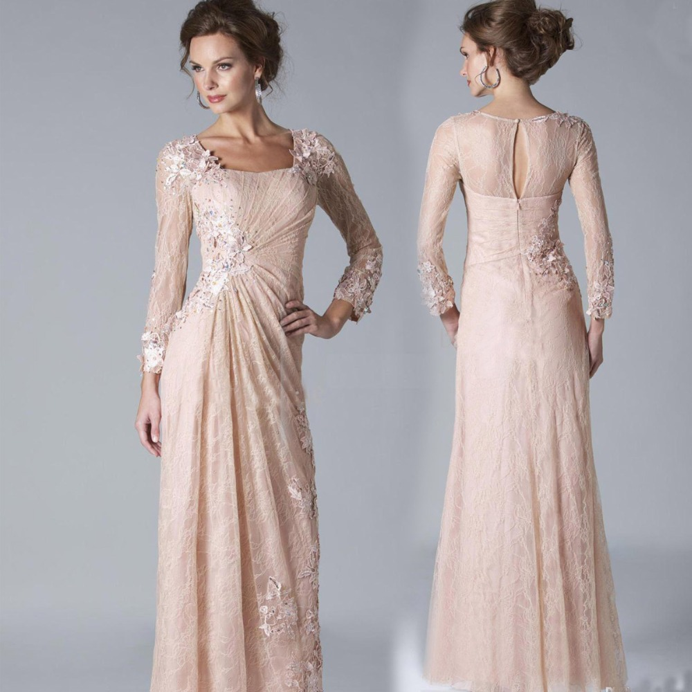 2016 Sexy Chiffon Lace Evening Dresses Long Sleeves Prom
