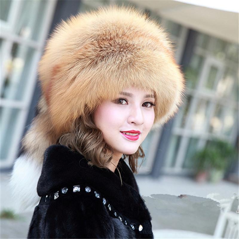new 2015 women autumn winter warm real hat Mink fur ...