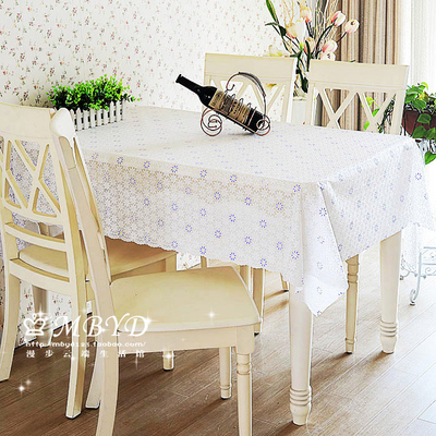 European-style garden Waterproof without washing plastic cloth table cloth The table cloth PVC anti-oil Table coffee table mat(China (Mainland))
