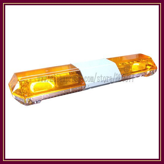 """Amber Strobe xenon lightbar with 100W siren and 100W speaker, use for police ambulance firefighter, DC12V, 48"""", Power 140W"""