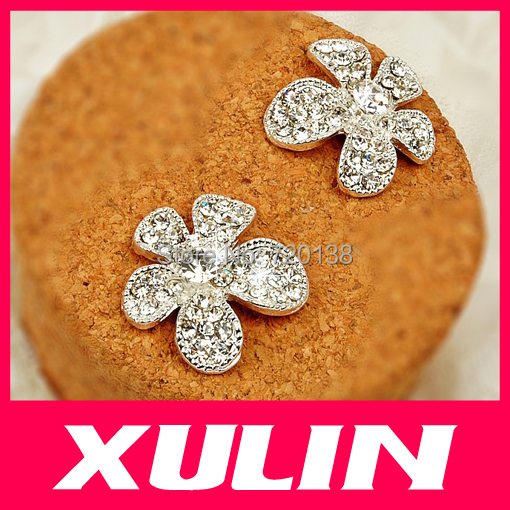 Glitter Rhinestones Alloy Flower Diy Phone Decoration Accessories - Zhejiang Xulin Industry And Trade Co.,Ltd store
