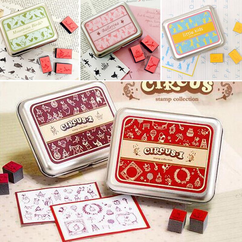 New Fashion Children Fairy Bird Pattern Stamps DIY Rubber Stamp 9 Styles Scrapbook Wedding Decoration Kid Gifts(China (Mainland))