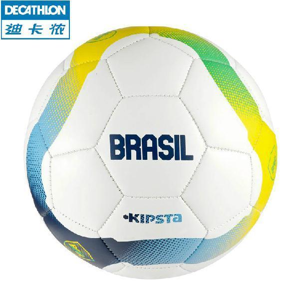 Genuine Decathlon kipsta 2014 World Cup theme Soccer ball Brazil Germany Argentina team outdoor football Beach football Size 5(China (Mainland))