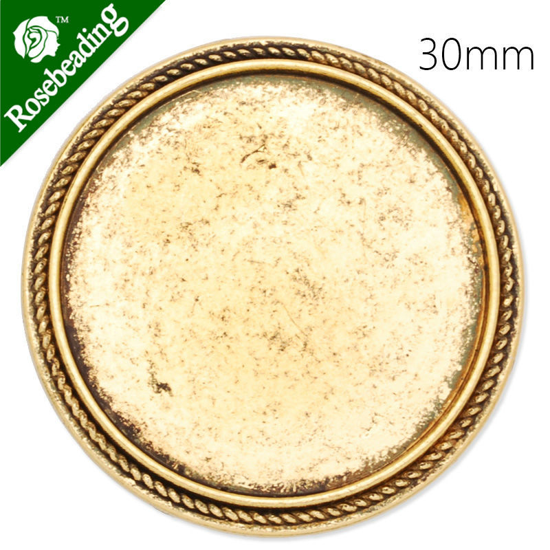 30mm antique gold plated brooch blank,brooch bezel,cameo setting,zinc alloy,lead and nickle free,sold by 10pcs/lot-C4066(China (Mainland))