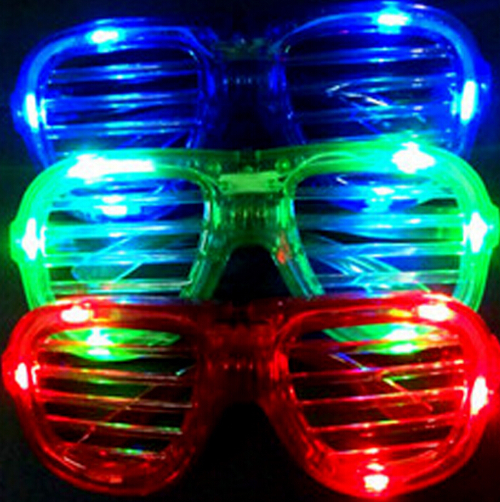 Glow party glasses 2015 new fashion light up flash LED glasses glowing classic toys decorative party mask 10pcs(China (Mainland))