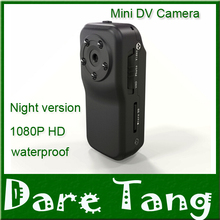 Newest Mni DV Action night vision camera better than MD80  Smaller than sj4000 dvr 1080p  5 IR  waterproof cover for diving HM23