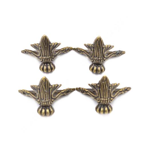 4 pieces vintage antique brass decorative wooded furniture for Antique decoration pieces