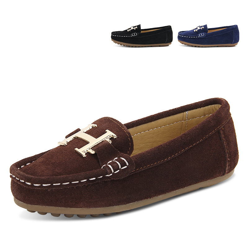 British Style Child Boys Genuine Leather Flats Shoes Summer Breathable Loafers Shoes For Kids Casual Fashion Child Flat Sneakers(China (Mainland))