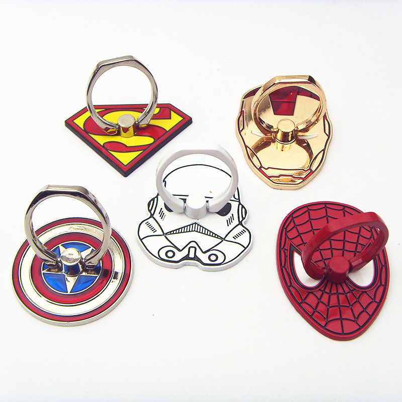 Hot fashion DC Comic superman spider man captain darth vader mask rings for souvenirs(China (Mainland))