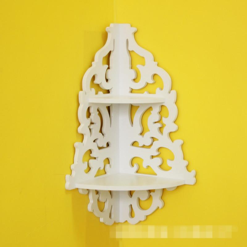 Design Hollow Corner Wall Shelf Display Shelve Ledge Flower pot Holder For Home Decor(China (Mainland))