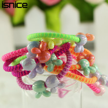 Buy isnice 30pcs/lot Rabbit Ball Hair Rope Candy Color Elastic Hair Bands Girl Kids Gum Hair Rubber Bands Hair Accessories for $1.85 in AliExpress store