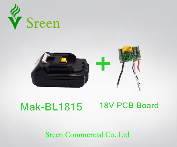New Spare BL1815 Lithium Ion PCB Circuit Board With Replacement Makita 18V 1.5Ah Power Tool Battery LXT400 Special Price(China (Mainland))