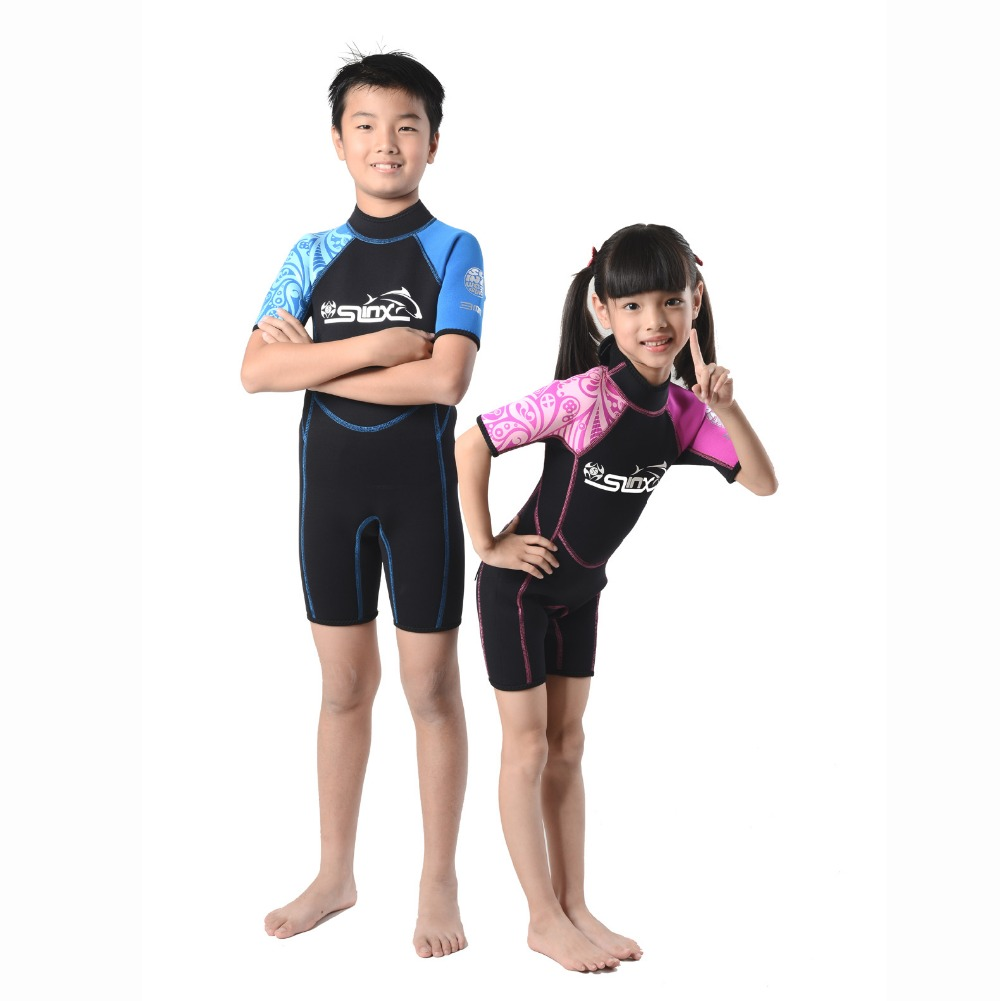 SLINX 3mm Neoprene Wetsuit for Children Diving Short Wetsuit Kids Surfing Suit For Boys & girls Swimming Surfing Clothes(China (Mainland))