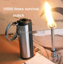 New emergency match box 10000 times Stainless steel material outdoor survival magnesium rod lighter flint stone fire starter(China (Mainland))