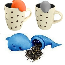 Modern Design silicone shark shape Teapot cute tea infuser Tea Strainer Coffee Tea Sets maker set
