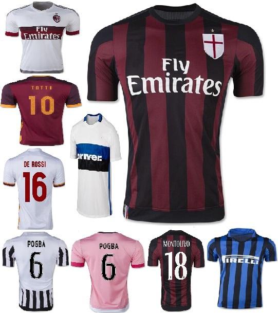 ^~^ El SHAARAWY 2015 2016 AC Milan Jersey 18 MONTOLIVO Soccer Jersey 15 16 AC Milan jerseys camiseta 22 CERCI Free custom(China (Mainland))