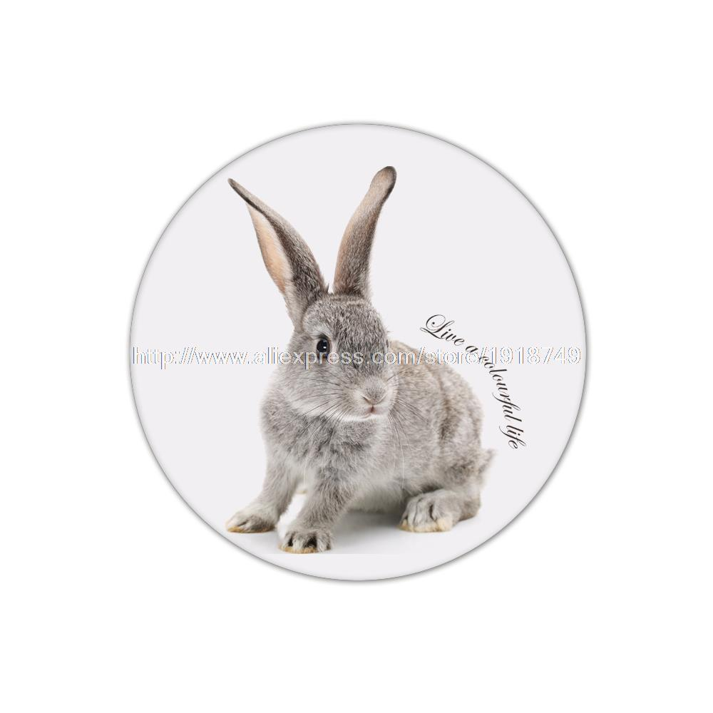 4pcs/set Cute animal rabbit printed custom Round Cup Mat Coffee Drink Placemat Wholesale personalized cork cup coasters(China (Mainland))