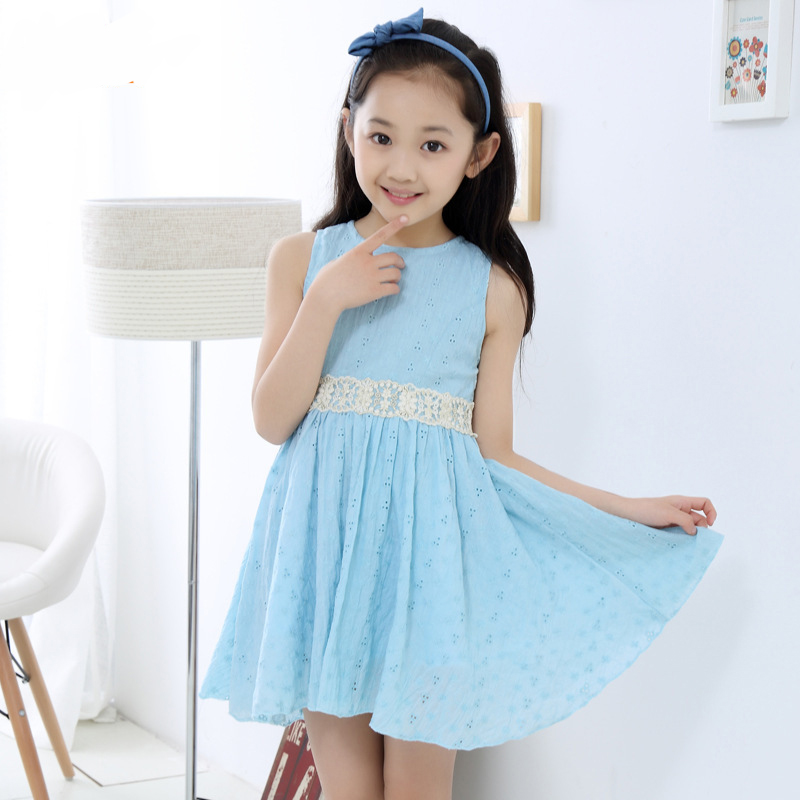 Cute Clothes For 7 Year Old Girls blue cute girl summer lace