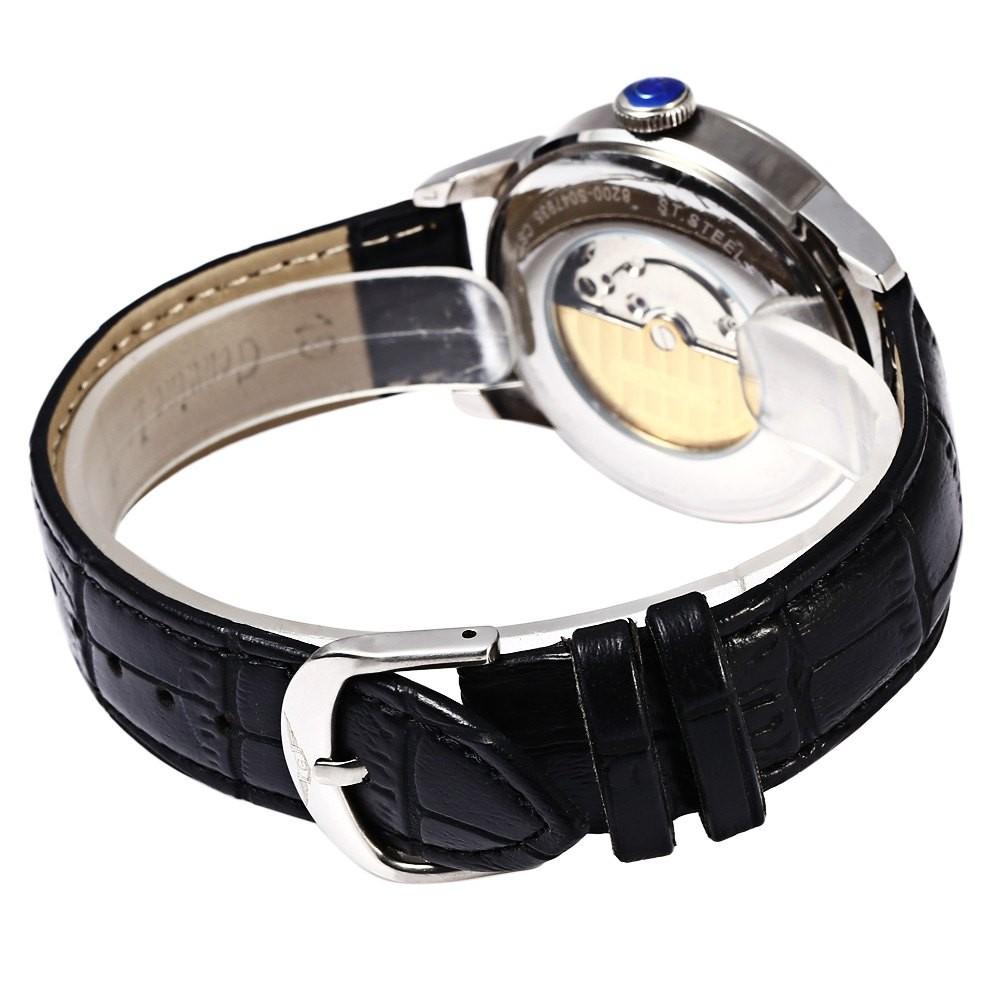Guanqin GQ008815 сапфир зеркало мужчины из натуральной кожи механические часы класса люкс бизнес-водонепроницаемые 100 м наручные часы