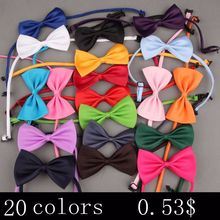 New Formal commercial bow tie male solid color marriage bowties for men candy color butterfly cravat