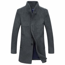 HOT!! Vintage Style Winter Long Wool Coats For Men Simple Covered Button Plus Size Overcoat Brand Casaco Masculino blusa de frio(China (Mainland))