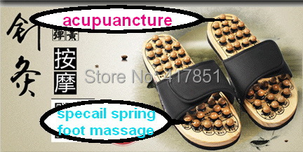 South Korea pebble foot massage slippers acupoint health care slippers summer woman home slippers