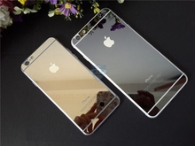 For iphone 6s plus metallic Front+Back gold colour Mirror Tempered Glass for iphone 6 plus 5.5 screen protector protecter film