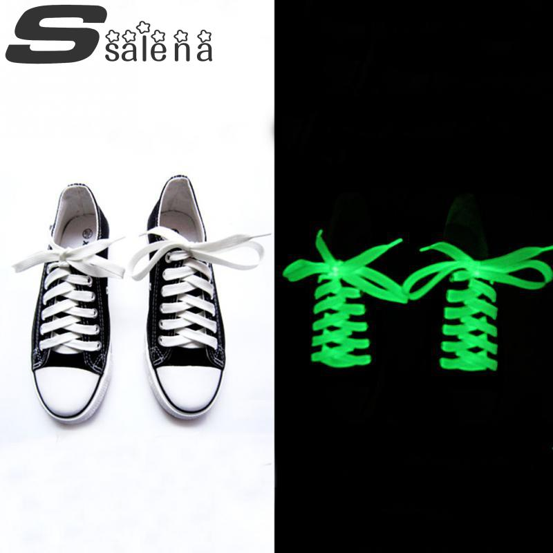 Luminous Shoelaces Glow In The Dark Shoelace Light Up Shoestring Rave Party Gift 3 Colors Wholesale Sneaker Shoelaces #B2016(China (Mainland))