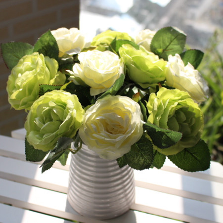 Round rose artificial flower silk flower artificial flower home decoration the bride accessories dining table flowers(China (Mainland))