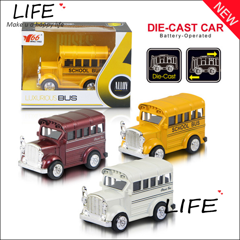 Top Sale Hot Sale Alloy Mini School Bus For Kids Toys Wholesale Metal Cute Duble Bus Models Two Types Choose 1:64 Hot Sale(China (Mainland))