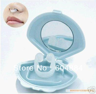New Creative 1Pcs Blue Silica gel Anti Snore Snoring Stop Dilator Nasal Sleep Device & Case with Mirror Free Shipping(Hong Kong)