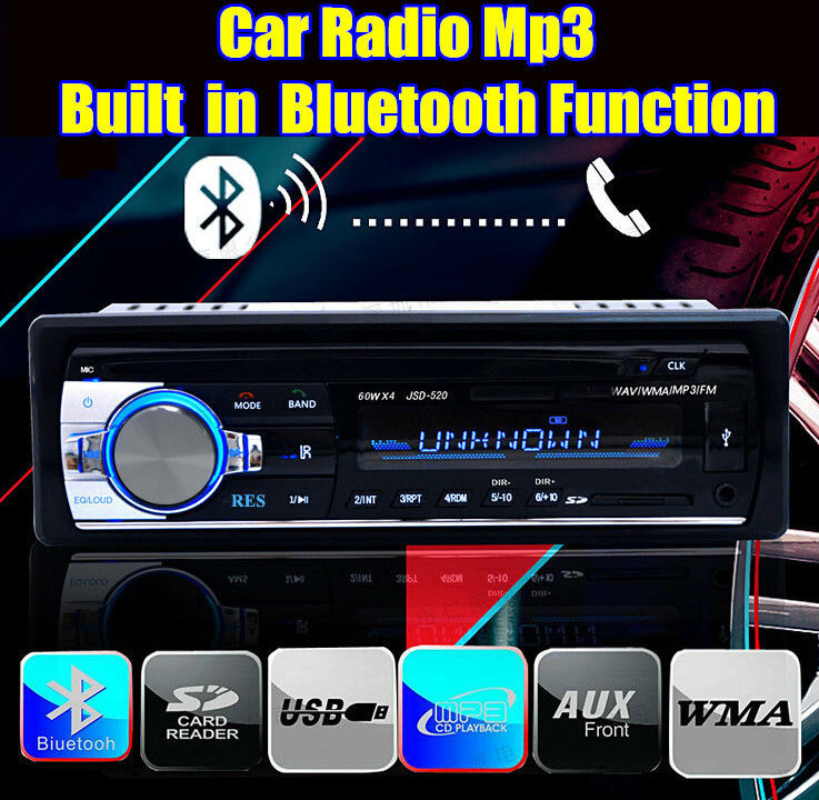 2015 New style Car bluetooth radio 1 din MP3 car Audio Player freehand Phone aux in USB/SD MMC Port Car Electronics In-Dash(China (Mainland))