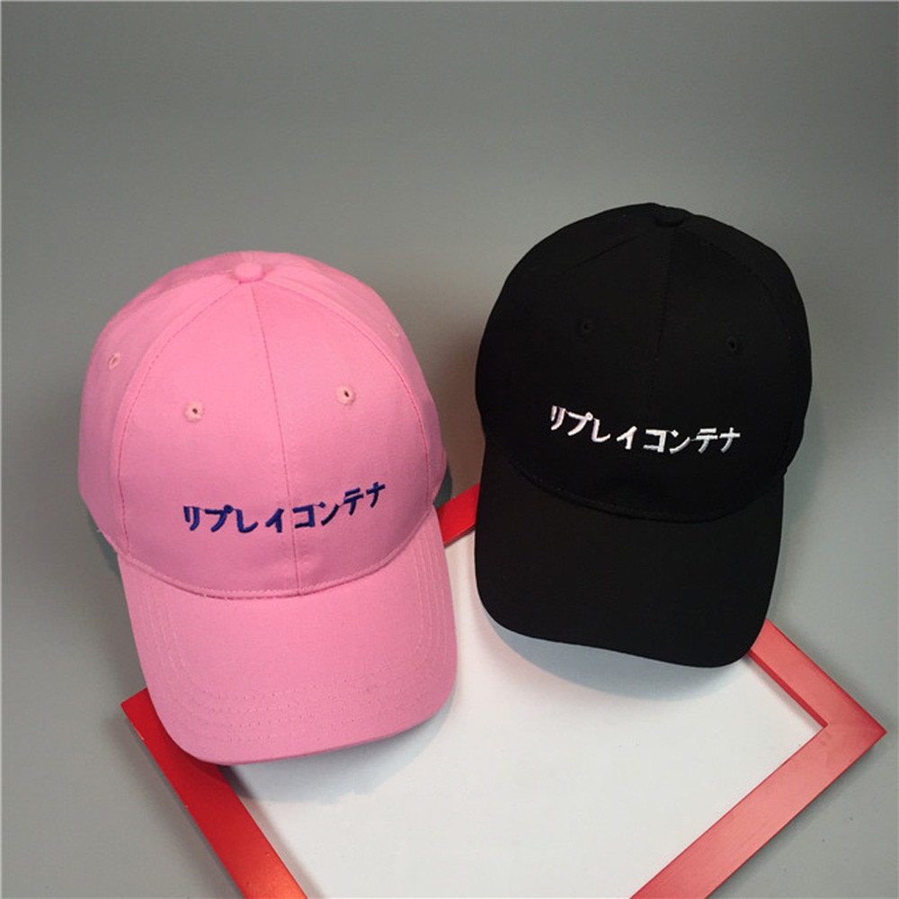 Women Cap 2016 Embroidery Cap Women Men Summer Spring Cotton Caps Women Letter Solid Adult baseball Cap Black Pink Hat Snapback(China (Mainland))