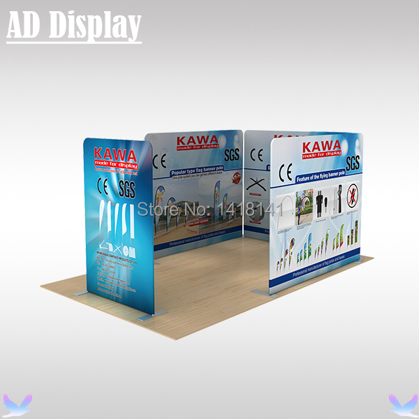 6m*3m Tradeshow Premium Tension Fabric Display Banner Stand With Double Side Graphic Printing,Exhibition Back Wall(7.5ft Height)(China (Mainland))
