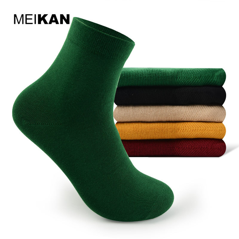 Cotton Men Colorful Socks MEIKAN Brand Short Hiking Summer Calcetines Elite Nylon 5pair Cycling Socks Men Sports Ankle White Sox(China (Mainland))