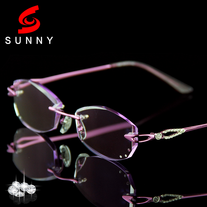 Rimless Eyeglass Frames With Bling : Excellence Lens Reading Glasses Women Rhinestone Readers ...