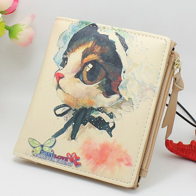 Watercolor Cat Art Wallet
