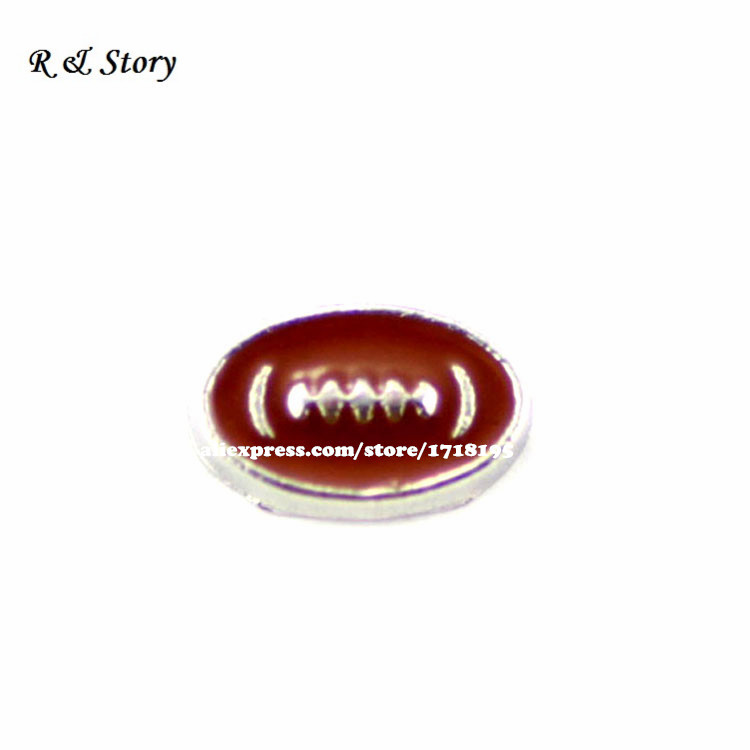 Football Floating Charm for Floating Lockets-Gift Idea LFC_438(China (Mainland))