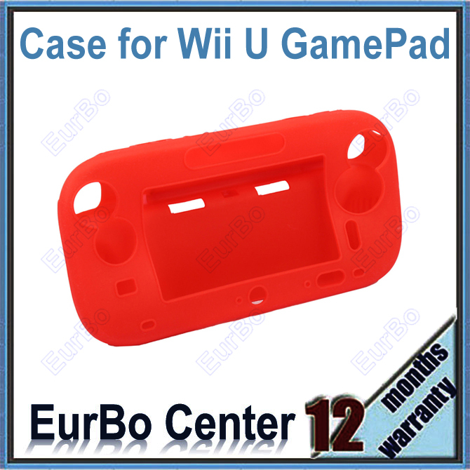 EurBo 10pcs a lot Full Body Silicone Case for Wii U Gamepad (Red)<br><br>Aliexpress