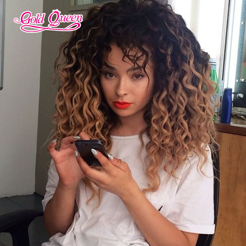 180 density malaysian curly wigs human hair ombre lace front wig gluless malaysian curly virgin hair lace wig with baby hair<br><br>Aliexpress