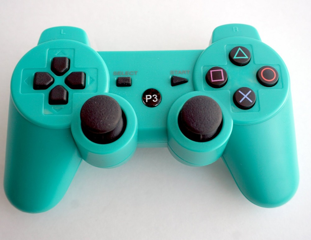 Green Bluetooth Wireless Double Vibration Controller for PS3(China (Mainland))